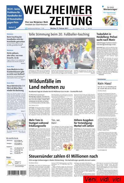 Welzheimer Zeitung 27 Februar 2017