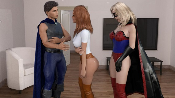 JillGates - Captain Hero's Double Stuffing