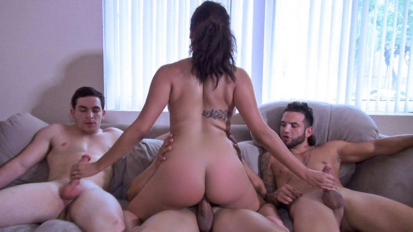 Julie Kay -  Triple-Teaming an Ebony Nympho