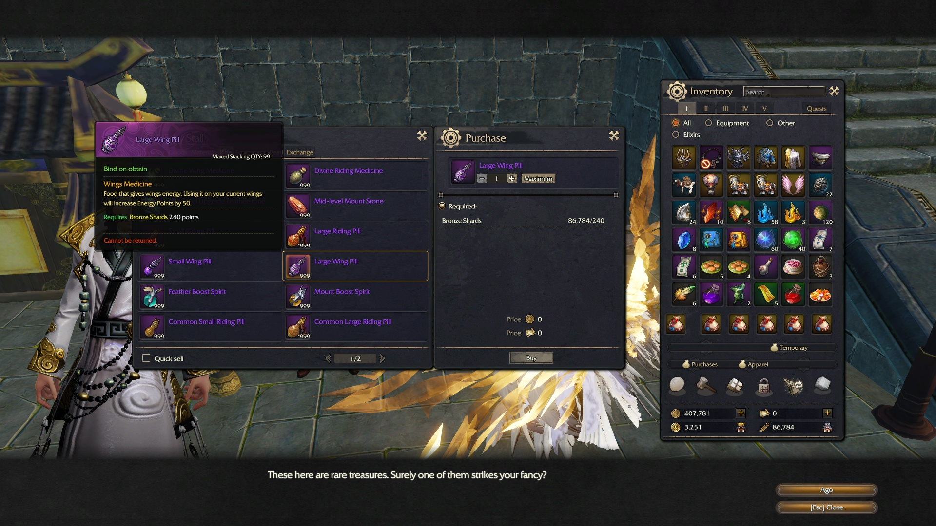 revelation online how to get wings