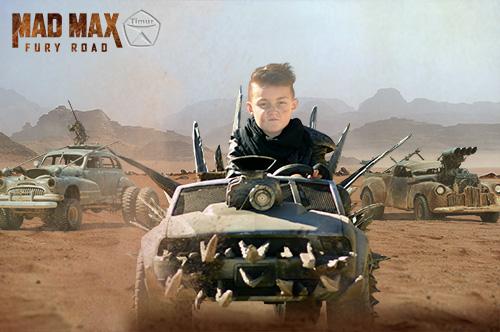 Детский шаблон для фотошопа - Воин дорог