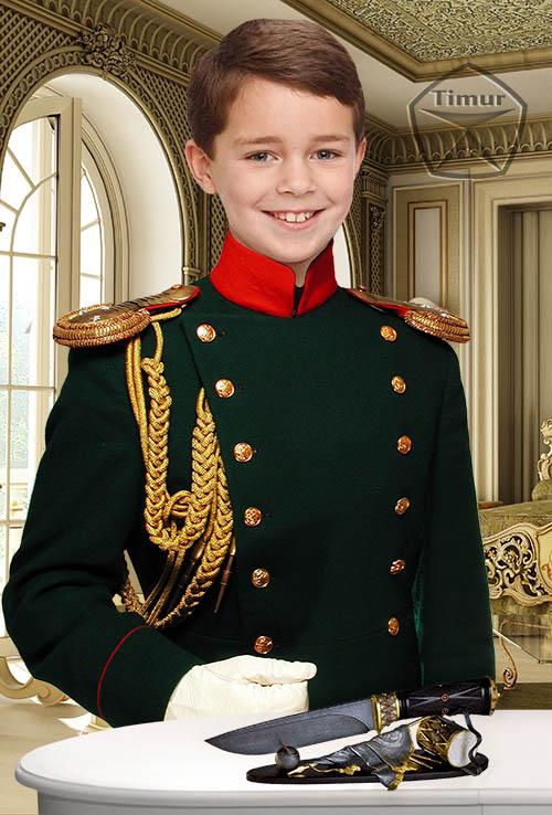 Детский шаблон для фотошопа - Офицерский мундир
