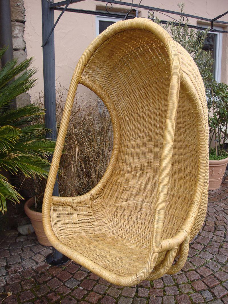 rattan h ngesessel h ngeschaukel h ngekorb aus rattan geflochten farbe honig. Black Bedroom Furniture Sets. Home Design Ideas