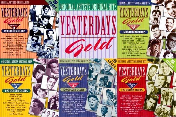 VA Yesterdays Gold 120 Golden Oldies 25 CD 1987