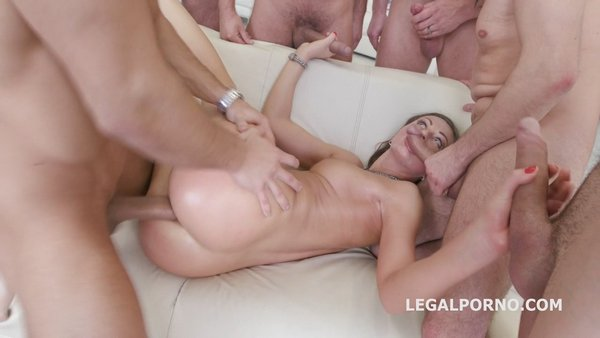7on1 Double Anal GangBang with Tina Kay No doubt she is a pro slut GIO333 (720p) Cover