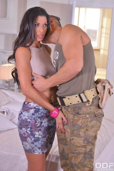 Alexa Tomas - Discharged_ Soldier And Husband Double Penetrate Horny Wife 1080p Cover