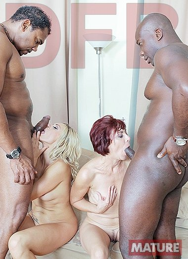 Brittany Bardot , Lara Red - Two hot matures fuck black guys