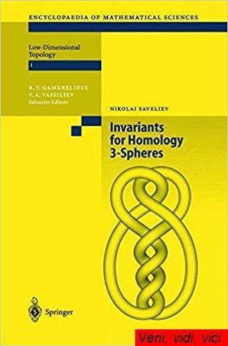 : Invariants of Homology 3 Spheres