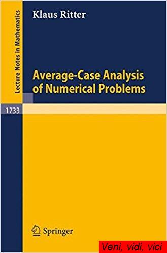 : Average Case Analysis of Numerical Problems