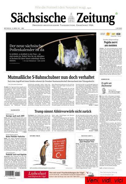 Saechsische Zeitung Dresden 22 Maerz 2017