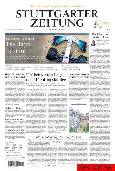 Stuttgarter Zeitung 22 Maerz 2017