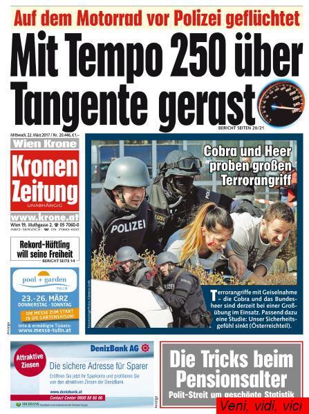 Kronen Zeitung 22 Maerz 2017