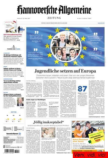 Hannoversche Allgemeine Zeitung 22 Maerz 2017