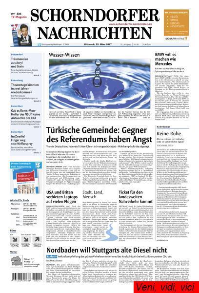 Schorndorfer Nachrichten 22 Maerz 2017