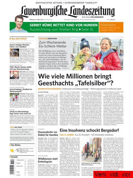 Lauenburgische Landeszeitung 22 Maerz 2017