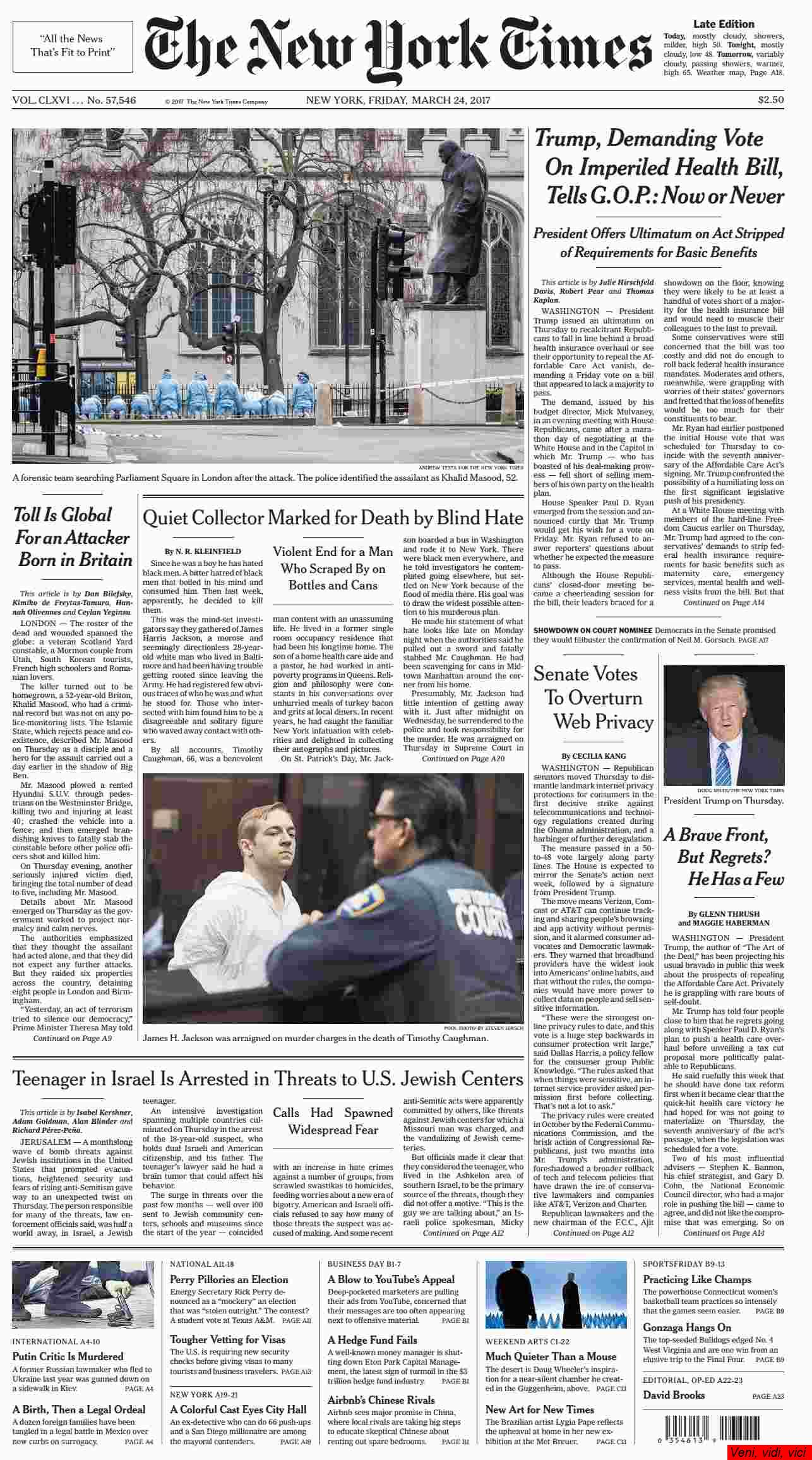 The New York Times March 24 2017