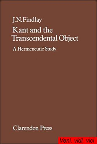Kant and the Transcendental Object A Hermeneutic Study