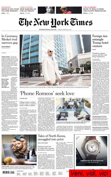 International New York Times 24 March 2017