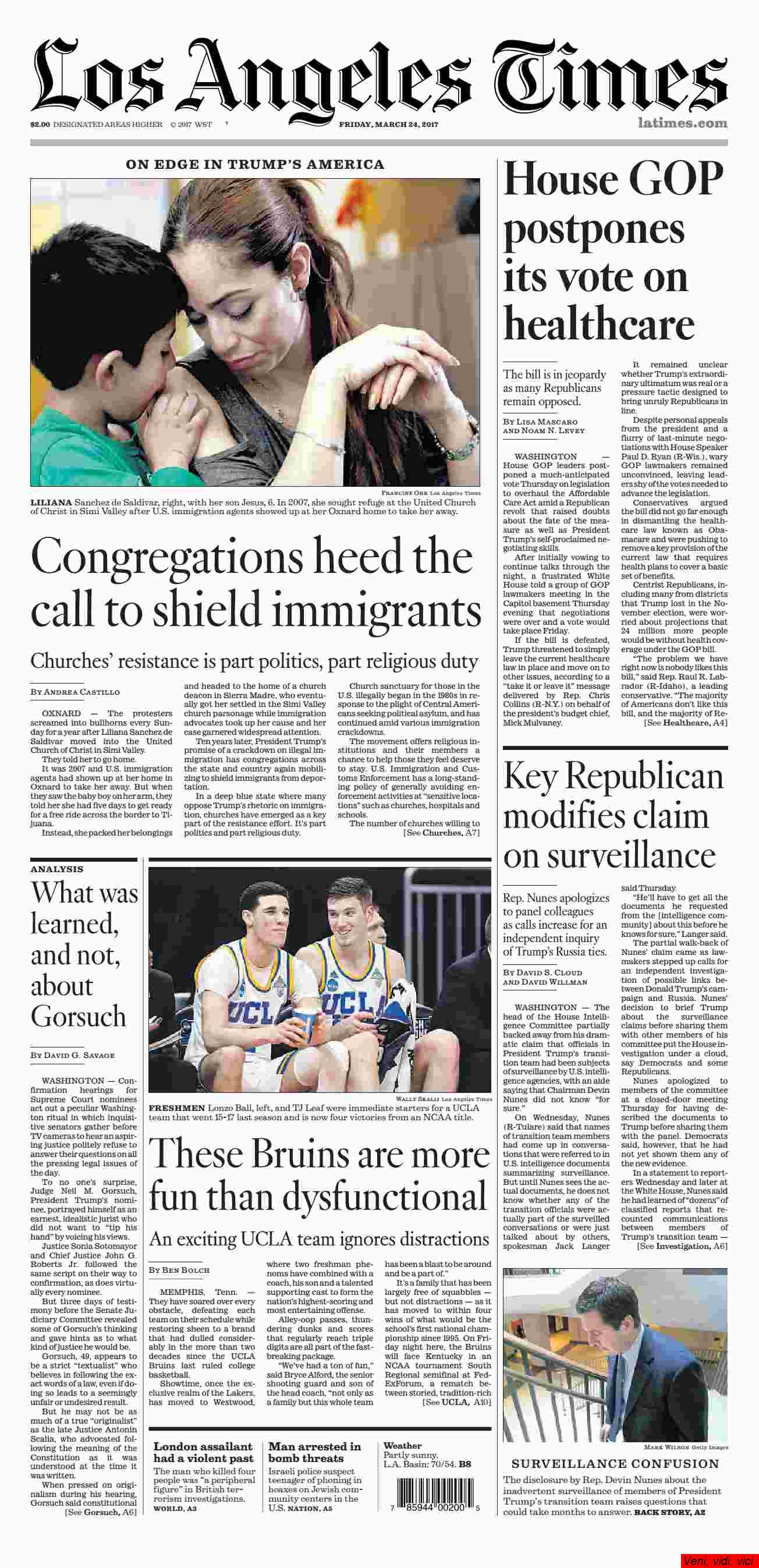 Los Angeles Times March 24 2017