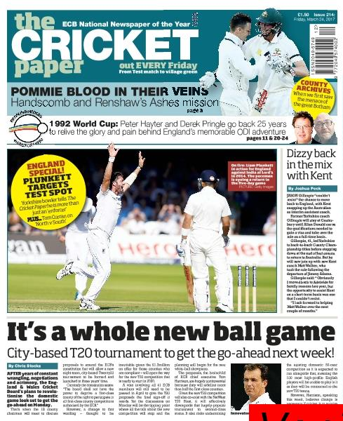 The Cricket Paper 24 March 2017