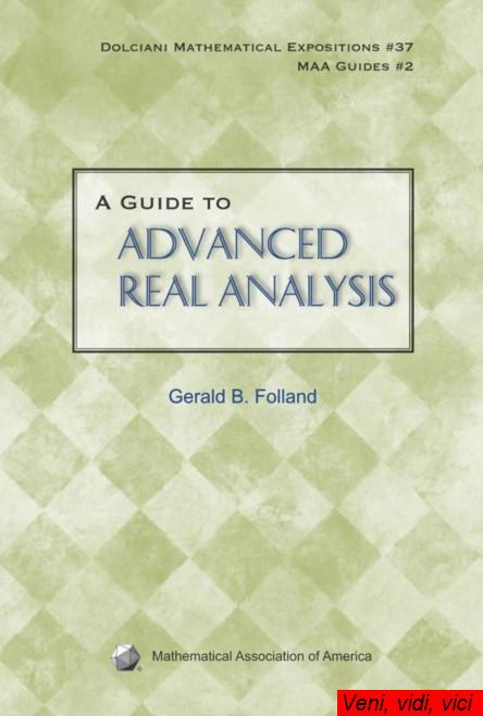 A Guide to Advanced Real Analysis
