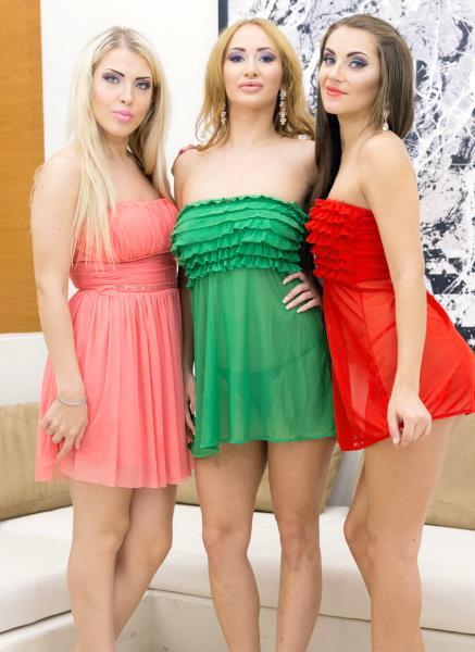 Maria Devine, Lara Onyx, Kyra Blonde - Maria Devine, Lara Onyx And Kyra Blonde In 3 On 3 Double Anal Orgy RS243 1080p