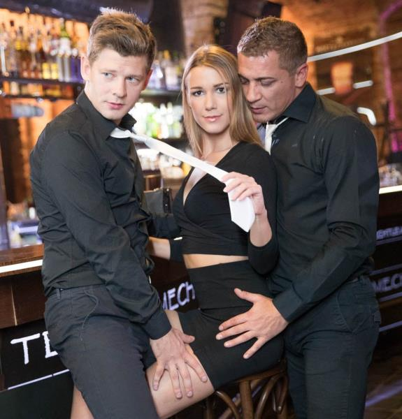 Alexis Crystal - And Two Hung Waiters Have a DP Trio in a Bar 1080p