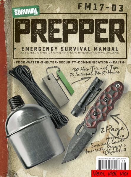 American Survival Guide Prepper Survival Field Manual Spring 2017
