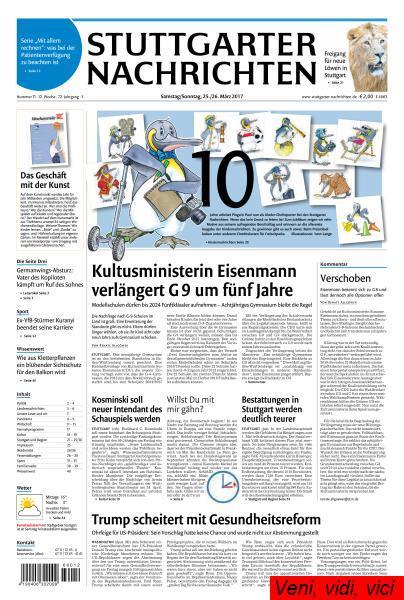 Stuttgarter Nachrichten 25 26 Maerz 2017