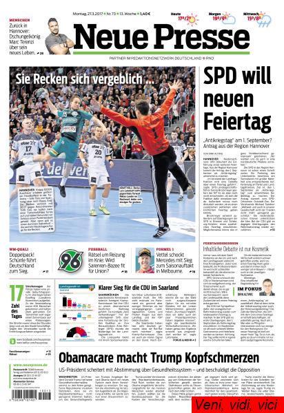 Neue Presse 27 Maerz 2017