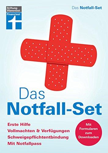 Buch Cover für Das Notfall-Set: Erste Hilfe, Vollmachten & Verfügungen, Schweigepflichtentbindung, mit Notfallpass