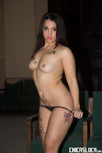 Kiara Bala - Voluptuous tattooed Spanish babe Kiara Bala fucks in an abandoned house 1080p Cover