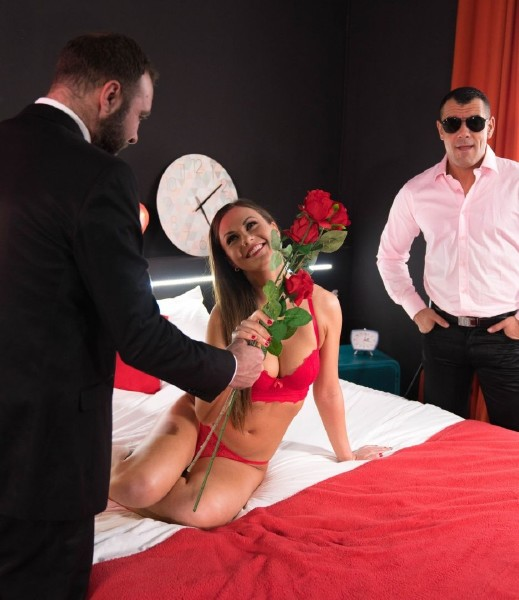 Tina Kay - Naughty British babe Tina Kay gets DP by her Spanish lovers in MMF action