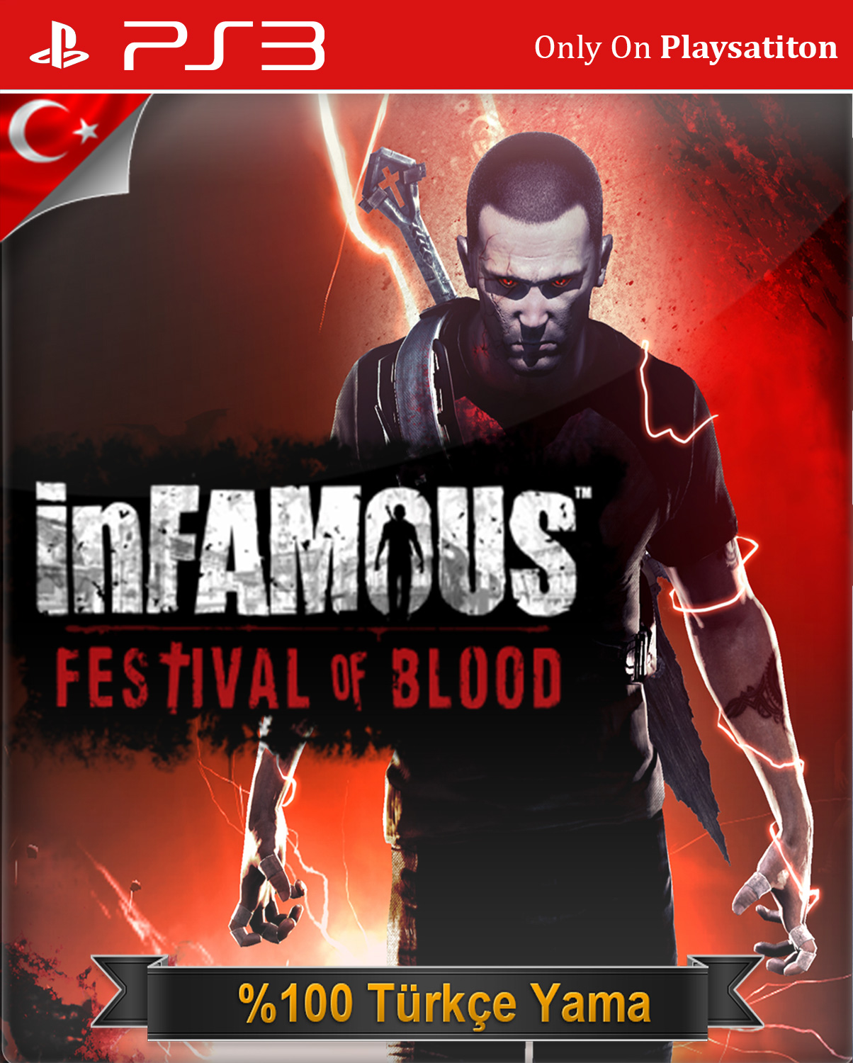 Kết quả hình ảnh cho inFamous - Festival of Blood cover ps3
