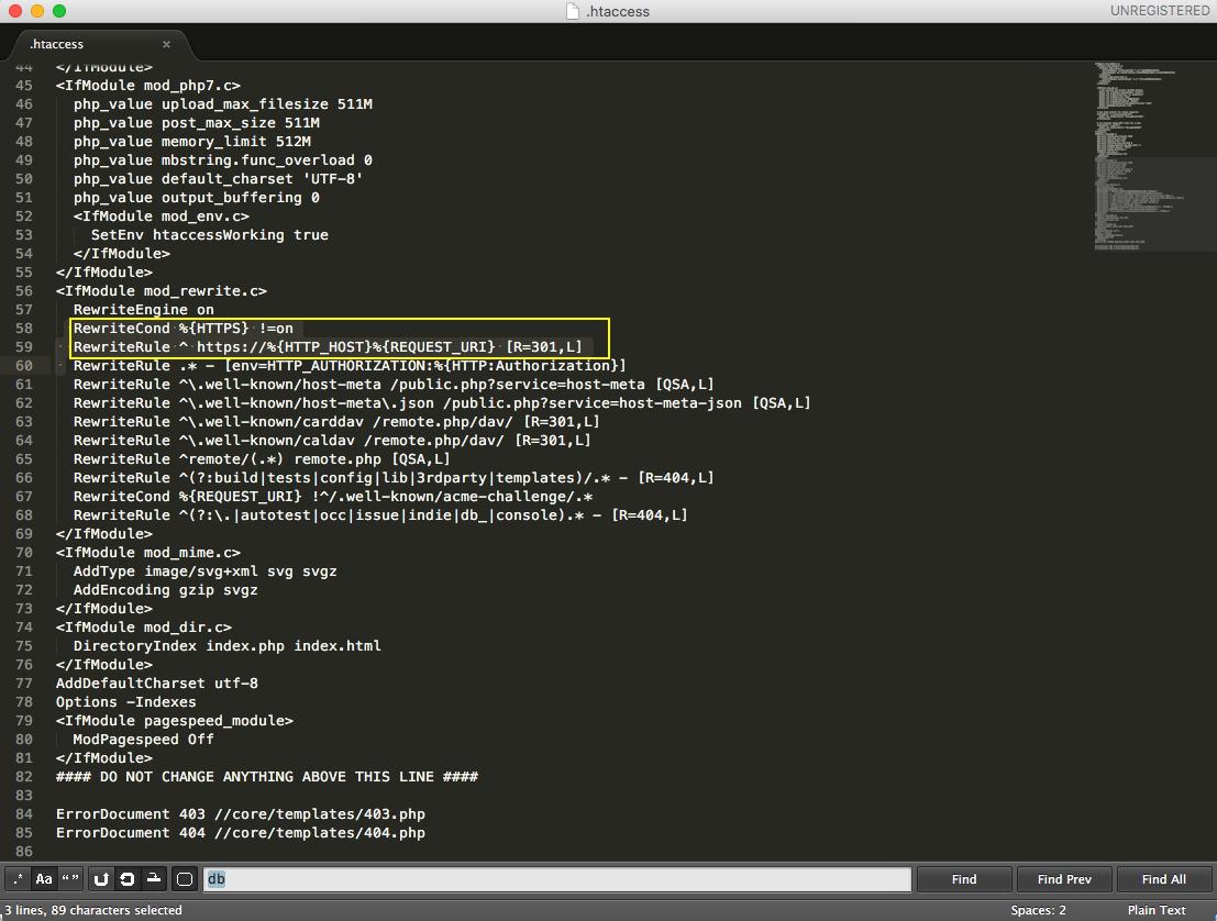 Enforce HTTPS via  htaccess edit · Issue #132 · nextcloud