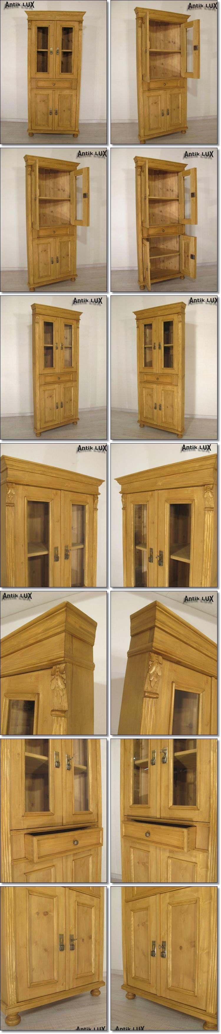 jugendstil eckschrank weichholz kommode vertiko anrichte schrank antik lux ebay. Black Bedroom Furniture Sets. Home Design Ideas
