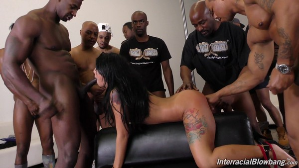 Gina Valentina - Brazillian covered in cum by dozen black guys 06.04.17