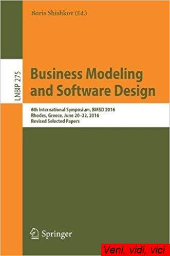 Business Modeling and Software Design 6th International Symposium Bmsd 2016 Rhodes Greece June 20 22 2016