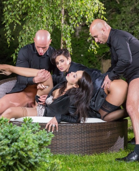 Ferrera Gomez, Gabrielle Gucci - Ferrera and Gabrielle Start an Outdoor Orgy with Both of Their Dates