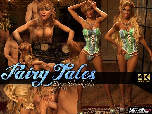 Gator3D - Fairy Tales - Elven Schoolgirls