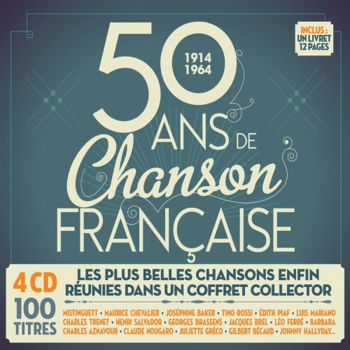 VA 50 Ans De Chanson Francaise 1914 1964 4CD 2014