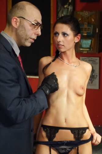 Hot German slave babe July Sun gets tied and tortured in intense BDSM PT 1 1080p Cover