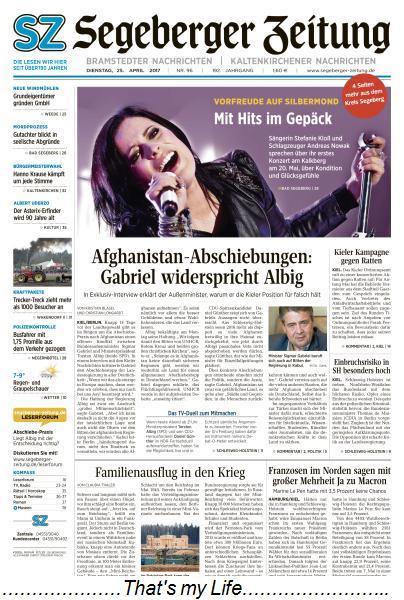 Segeberger Zeitung 25 April 2017