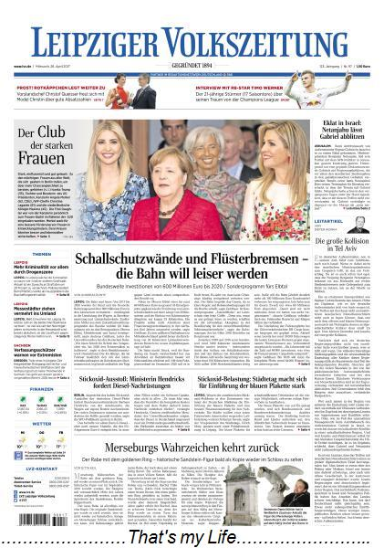 Leipziger Volkszeitung 26 April 2017