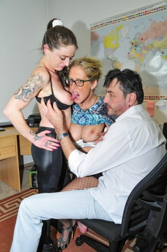 Tattooed German sluts in their 40s go for swinger sex in FFM threesome 1080p Cover