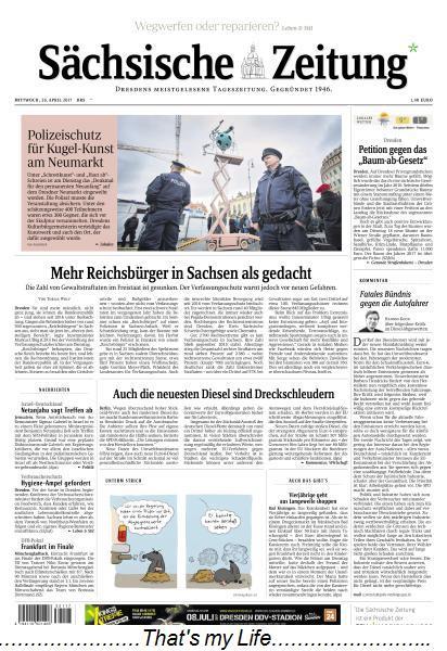 Saechsische Zeitung Dresden 26 April 2017