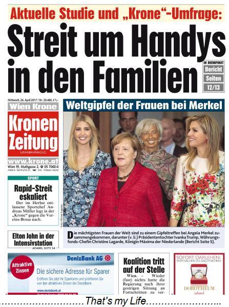 Kronen Zeitung 26 April 2017