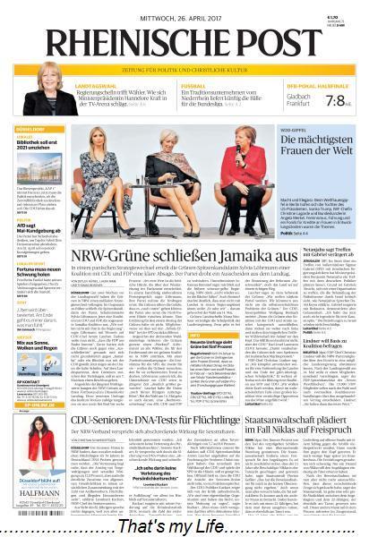 Rheinische Post 26 April 2017