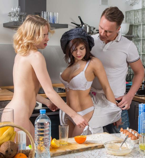 Via Lasciva, Rebecca Rainbow - Chefs fuck over meal 1080p Cover