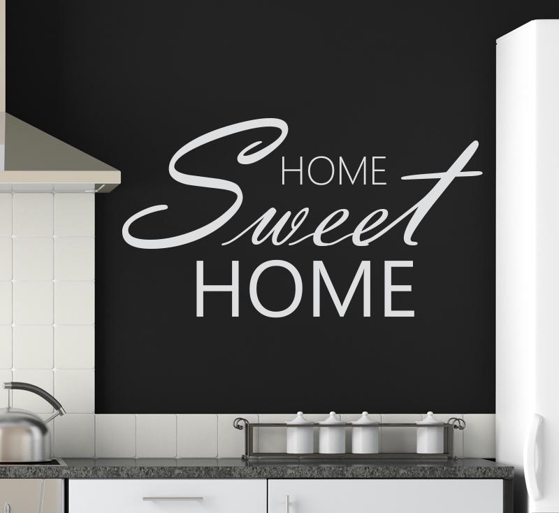 wandtattoo home sweet home eingang flur aufkleber wohnzimmer wandaufkleber ebay. Black Bedroom Furniture Sets. Home Design Ideas